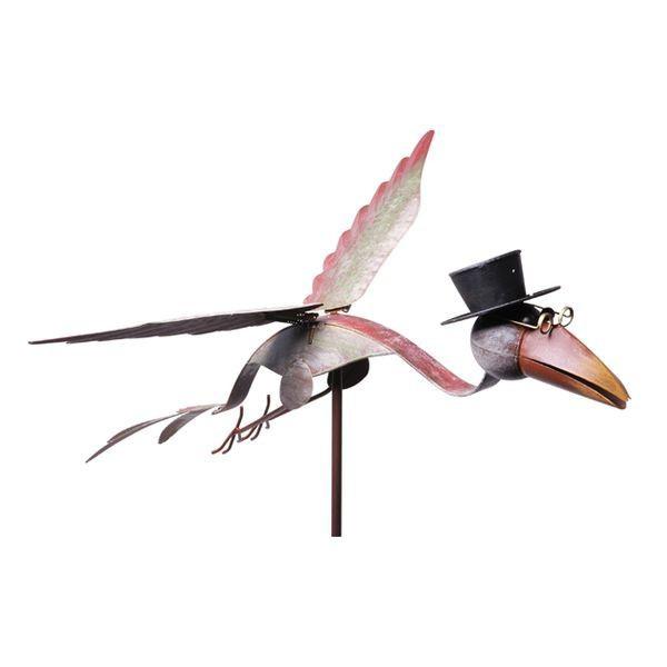Corbeau volant avec chapeau sur pique (lot de 2)
