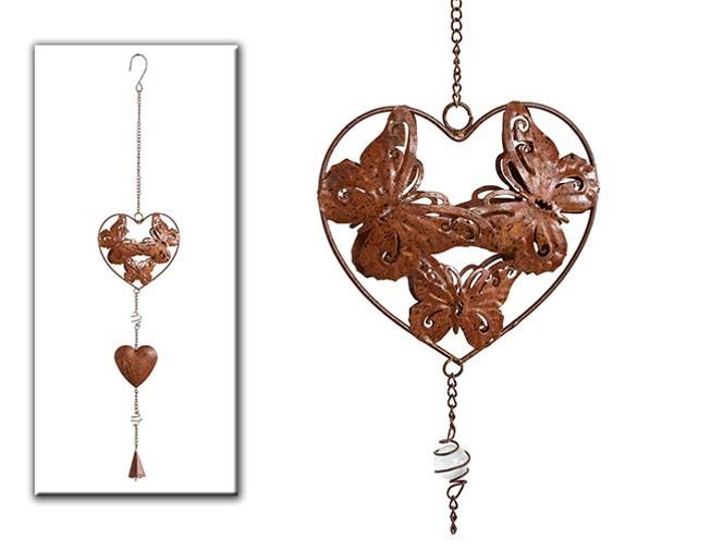 Set de 12 coeurs avec papillon et clochette
