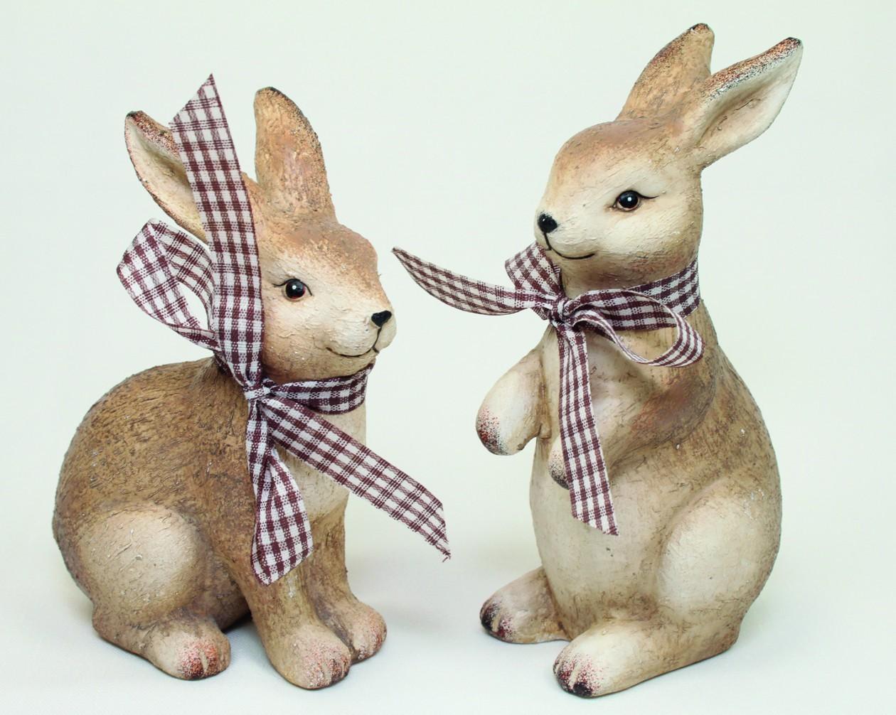 Lot de 12 lapins avec écharpe en tissu