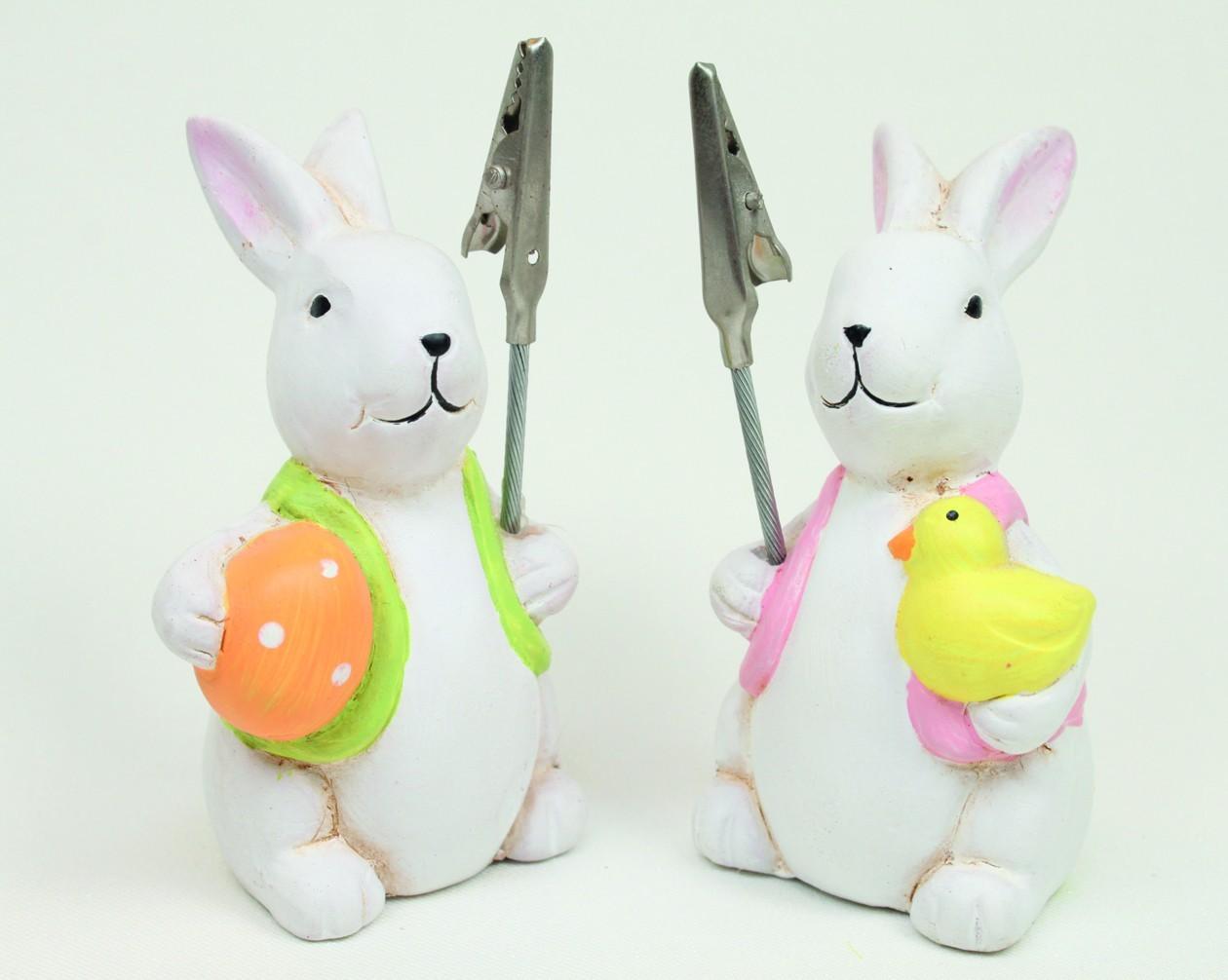 """Lot de 12 lapins """"porte photo"""""""