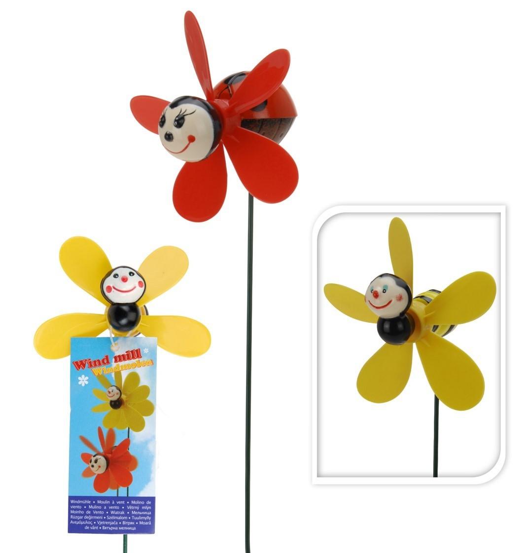 """Pack de 16 moulins a vent """"abeille"""" 2 modèles assortis"""