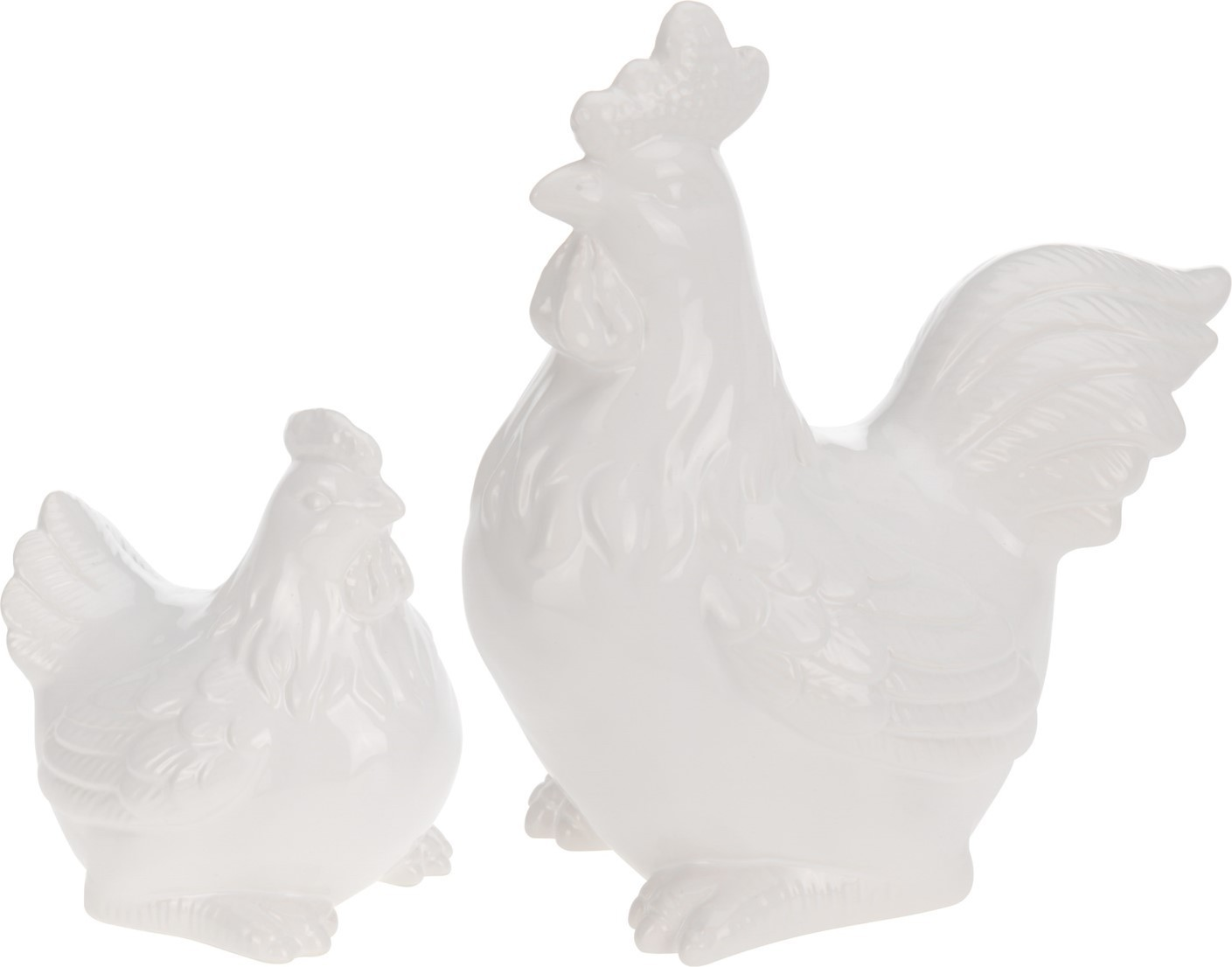 Lot de 8 poules et coqs 2 modèles assortis