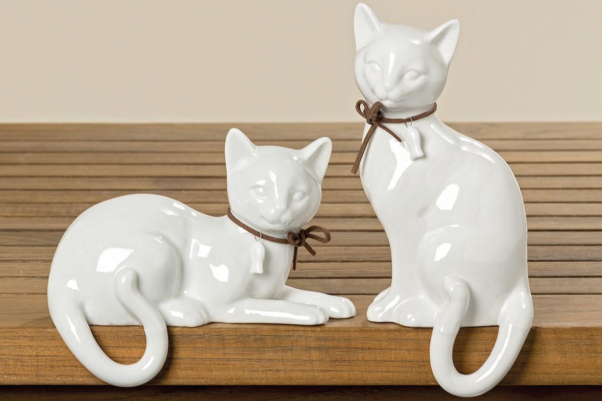 Lot de 10 chats blanc 2 modèles assortis