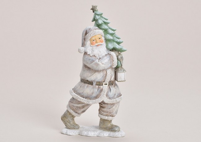 Lot de 4 sujets Père Noel gris