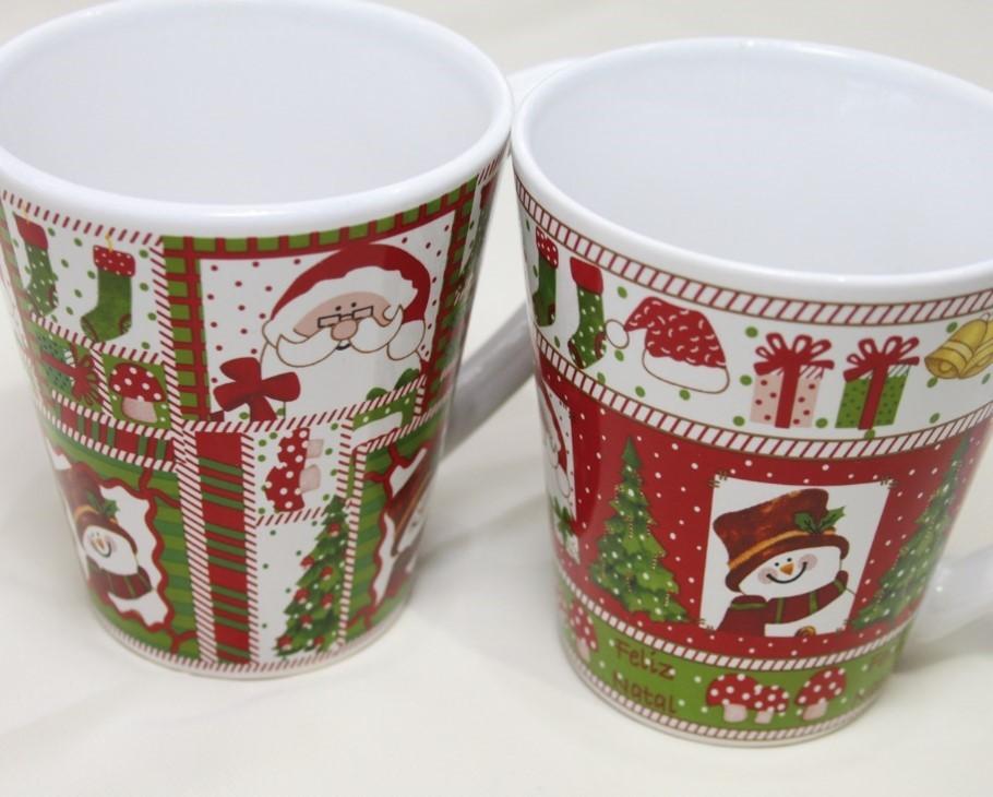 Lot de 12 mug Noel 2 modèles assortis