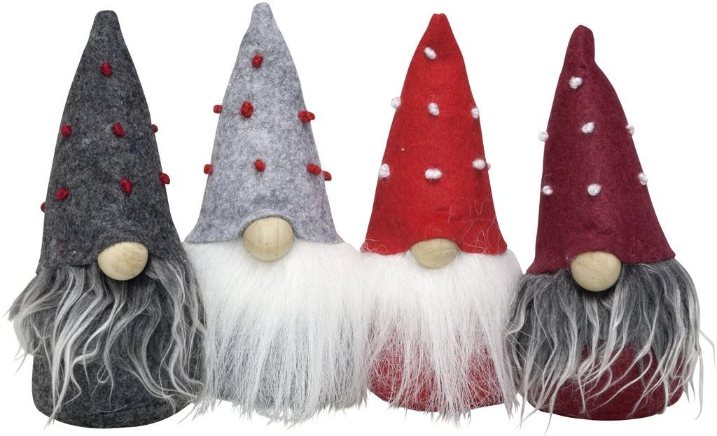 Lot de 24 gnomes 15 cm ( 4 modèles)