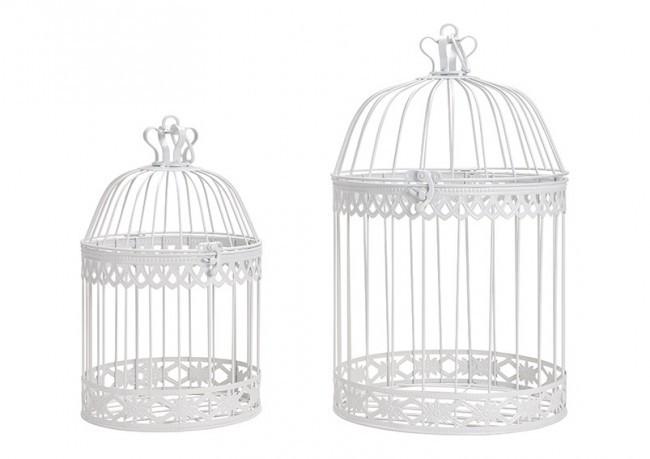2 cages à oiseaux en métal 2 modèles assortis