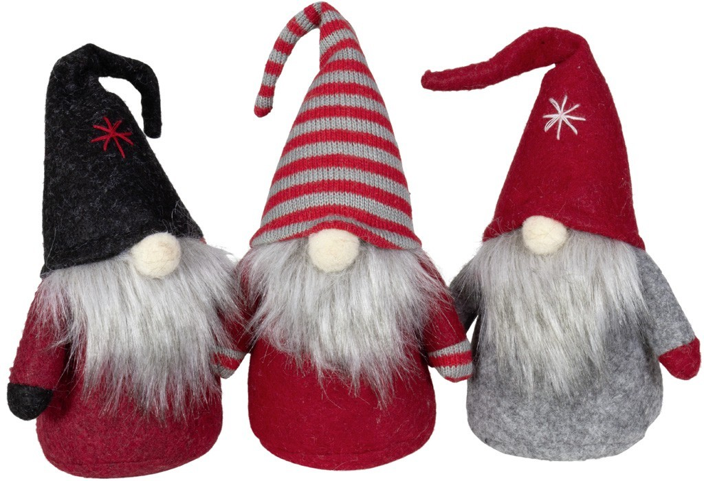 Lot de 24 gnomes 13cm (3coloris assortis)
