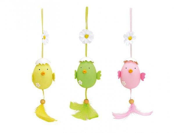Lot de 3 oiseaux à suspendre 3 modèles assortis