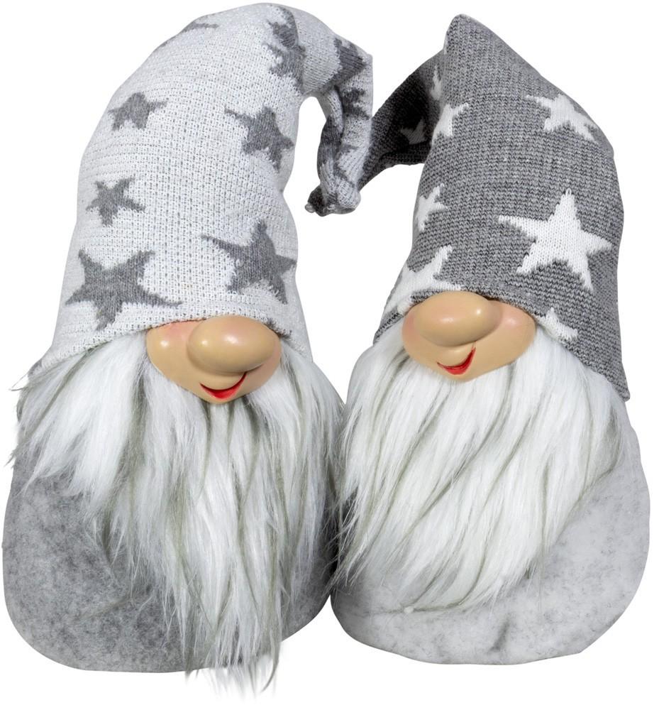 Lot de 24gnomes bonnet étoile 20cm(2modèles assortis)