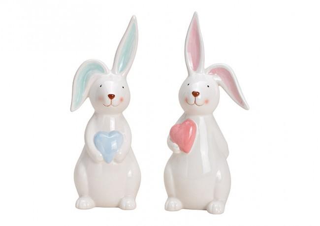 2 Lapins avec coeur 2 modèles assortis