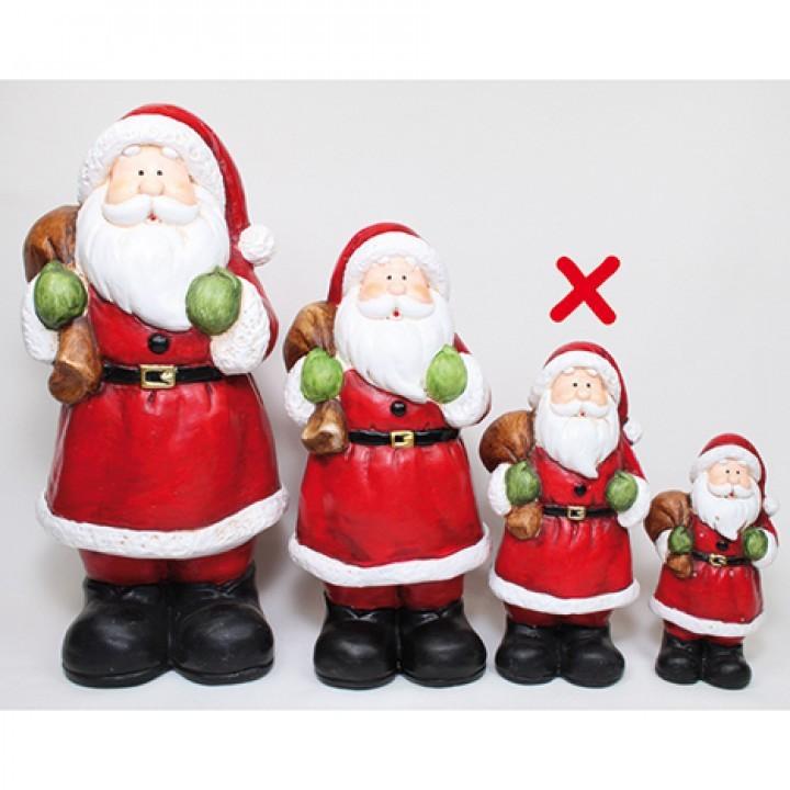 Lot de 12 père Noël 16cm