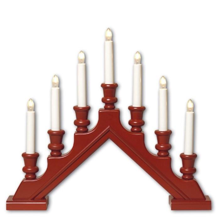 Lot de 6 chandeliers rouges 44x38cm