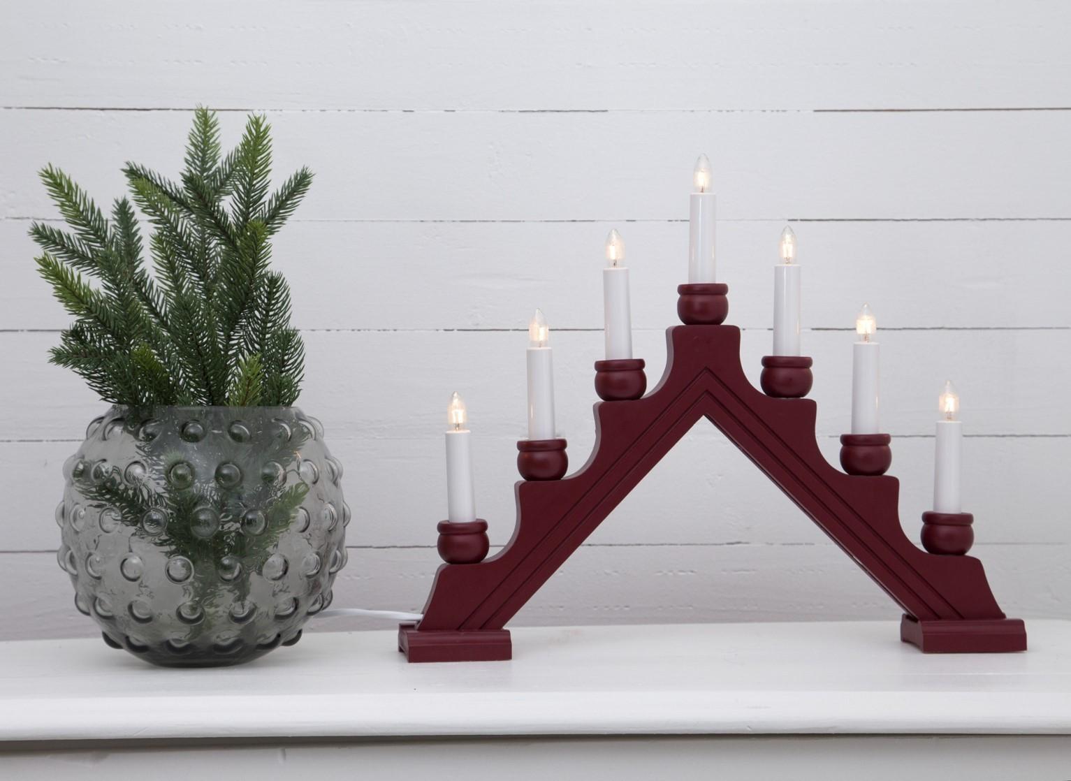 Lot de 6 chandeliers rouges