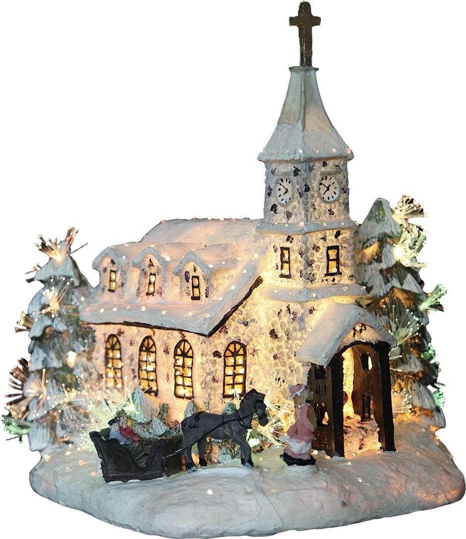 Eglise avec traineau 24cm