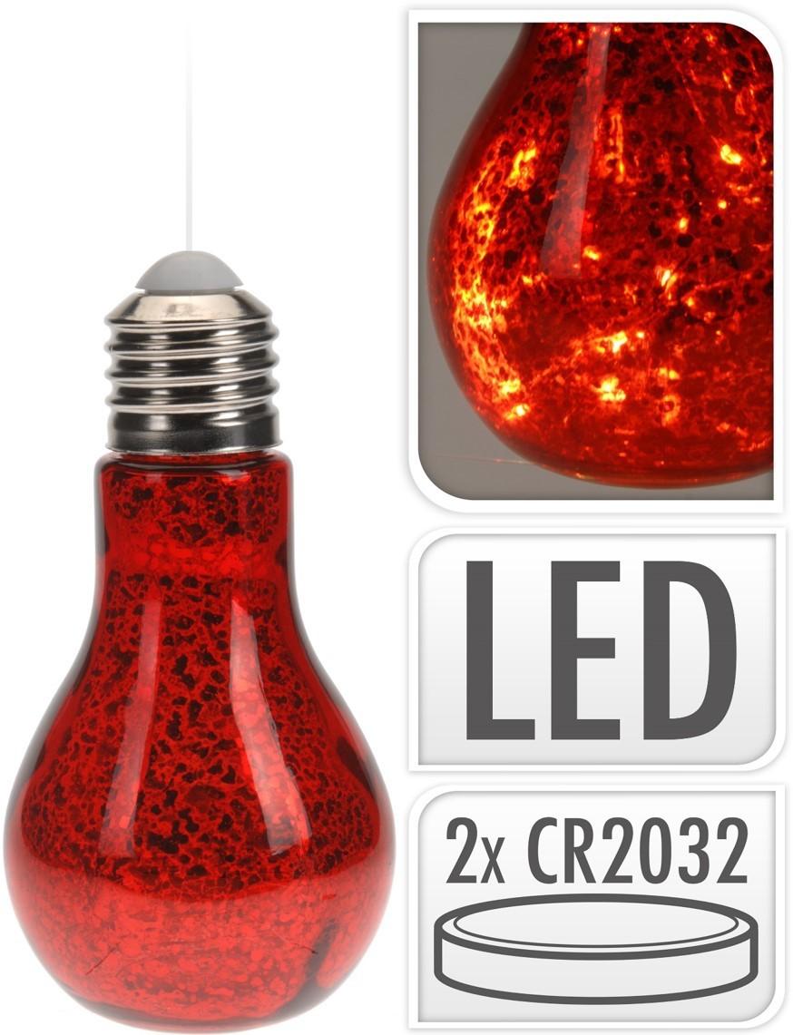 Lot de 18 ampoules led rouges 18cm