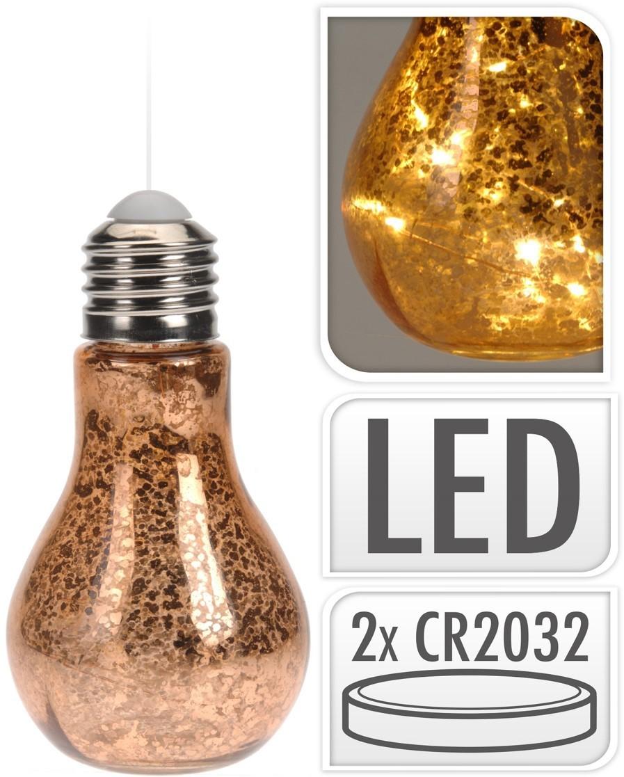 Lot de 10 ampoules led cuivre 22cm