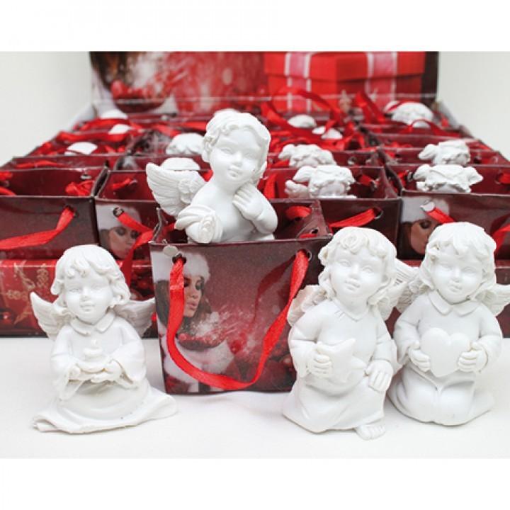 Lot de 24 anges dans leur sac (4 modèles assortis) 6cm