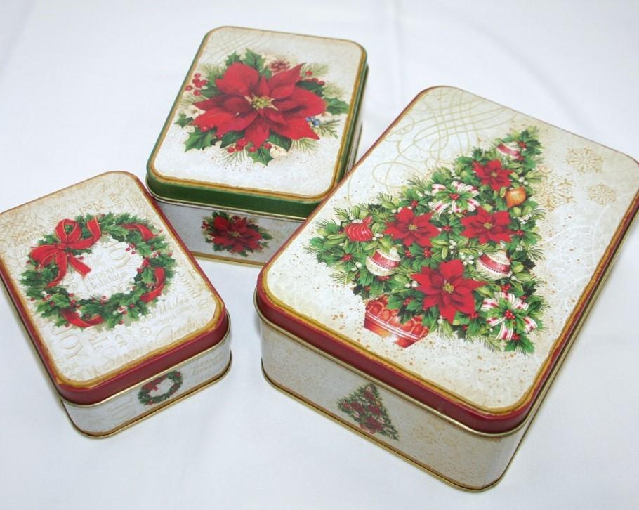 Lot de 6 boites à gâteaux rectangulaires