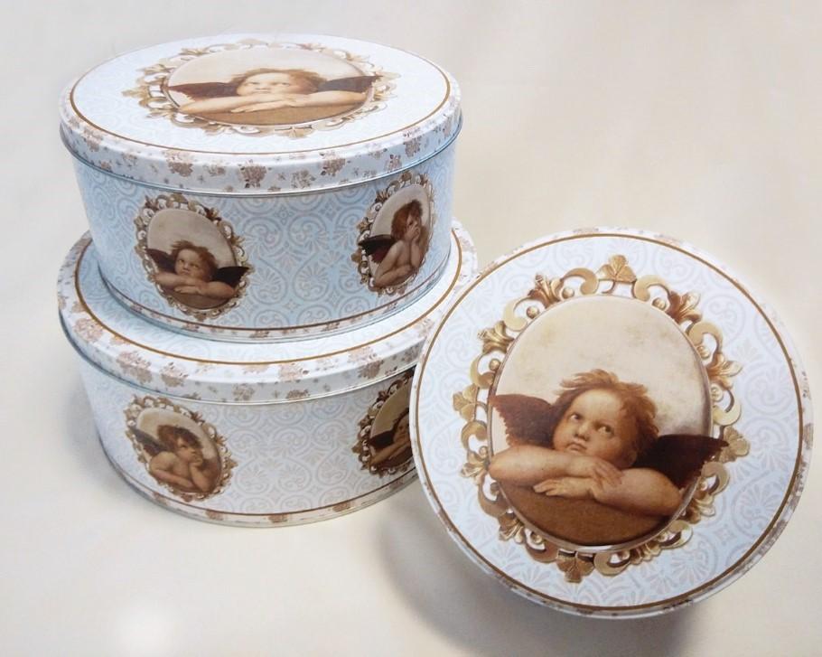Lot de 6 set de 3 boites à gâteaux modèles ange