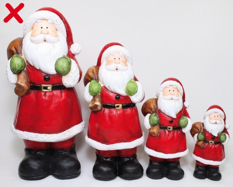 Lot de 4 Père Noël 26cm