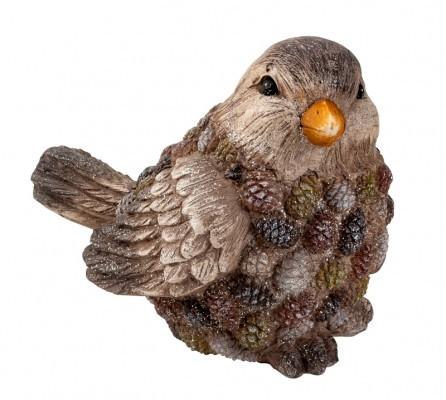 """Lot de 2 oiseaux """"pommes de pin"""" 25,5cm"""