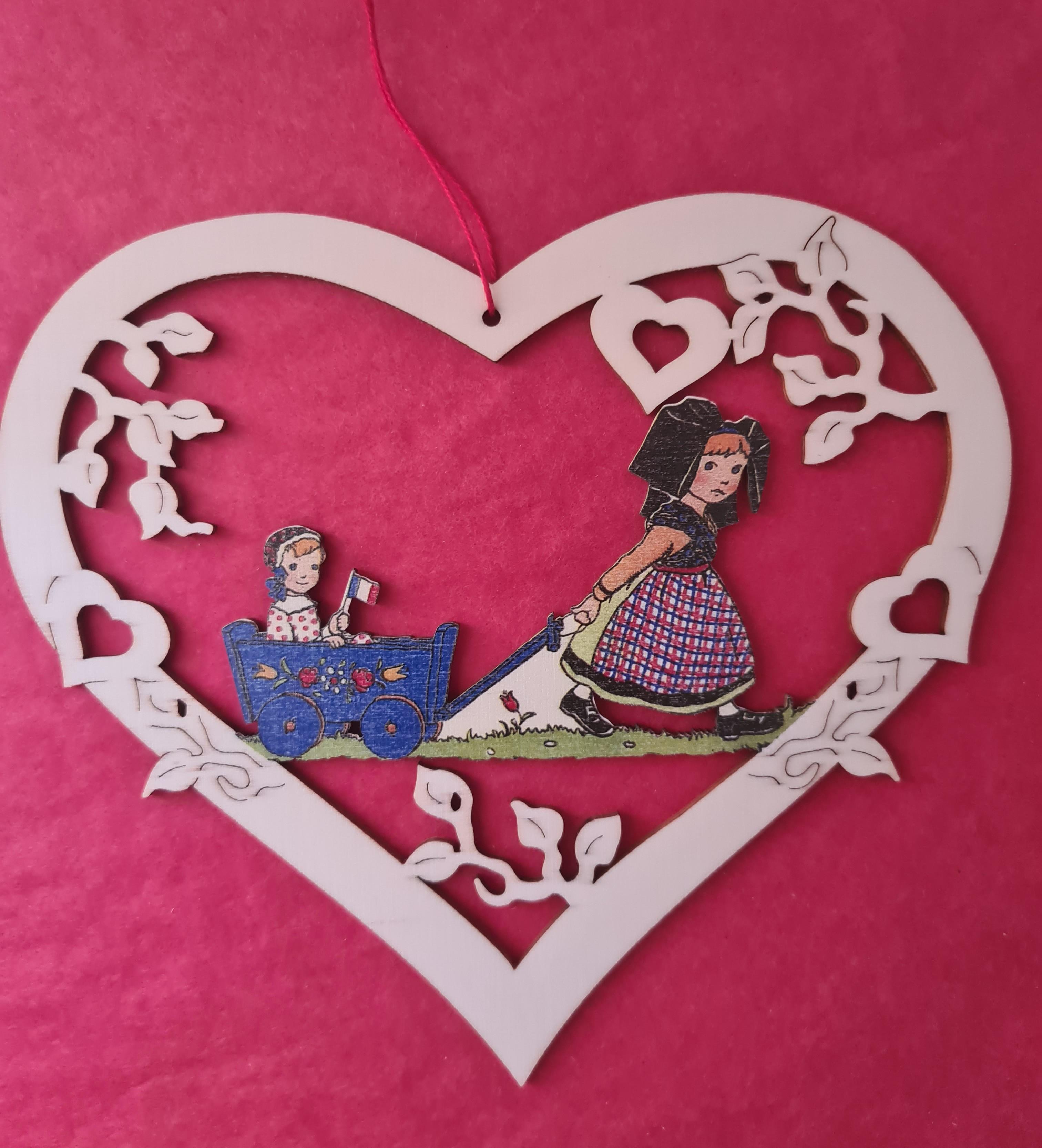 Coeur Alsacienne avec des oies 15cm