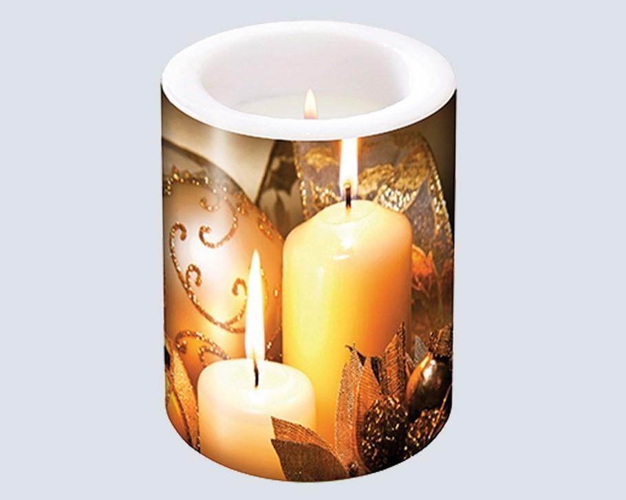 Lot de 17 bougies décoration de Noël 8cm