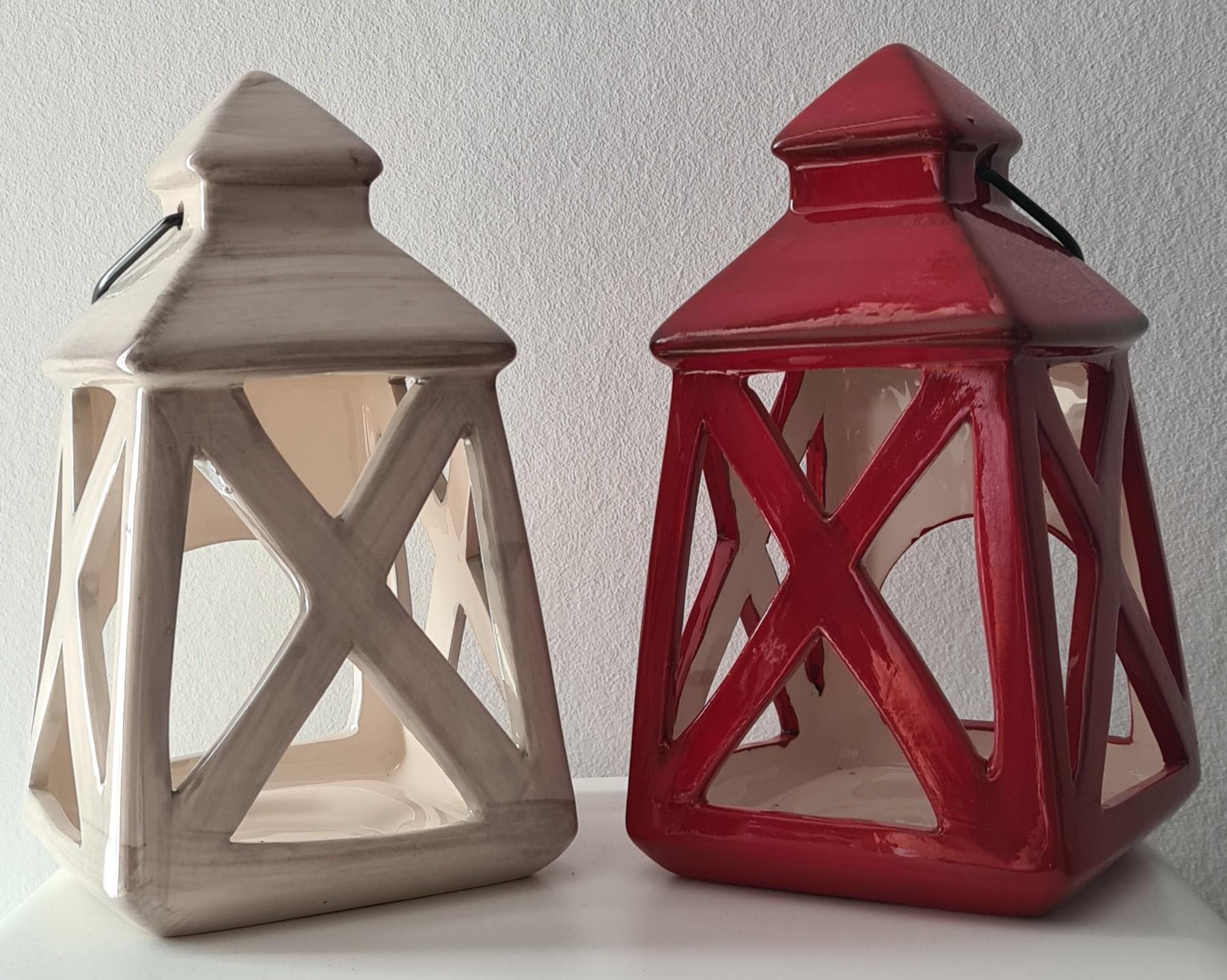 Lot de 24 lanternes 20x10cm 2modèles assortis