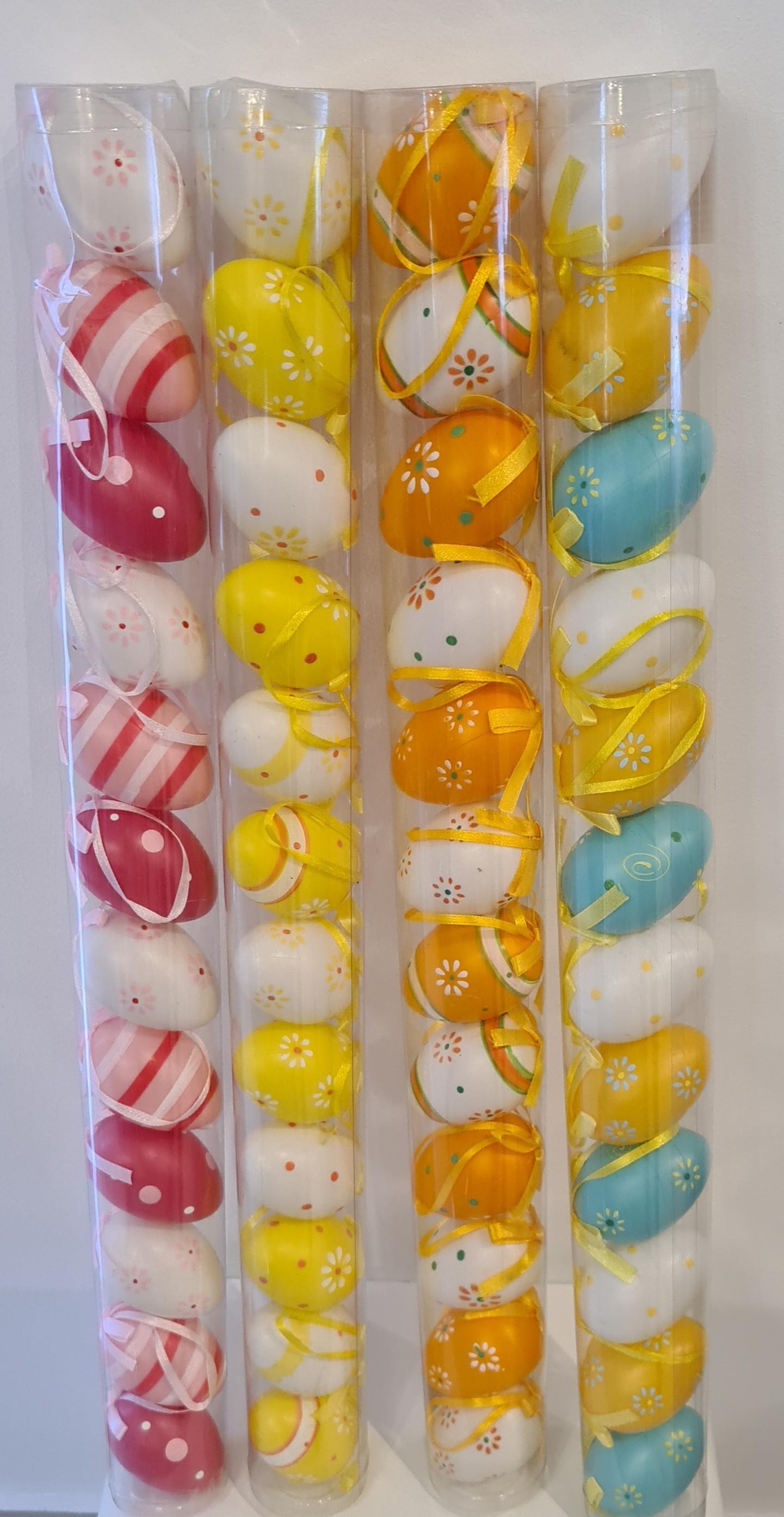 Lot de 12 oeufs en plastique 4 modèles assortis