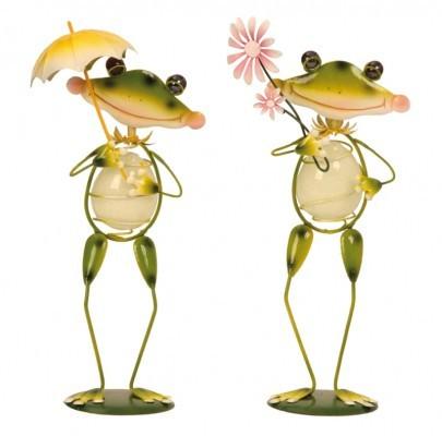 lot de 2 grenouilles fluorescentes