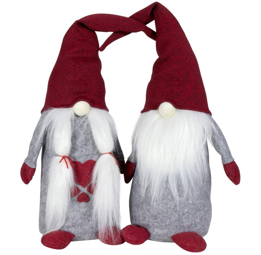 Lot de 4 gnomes 40cm , 2modèles assortis