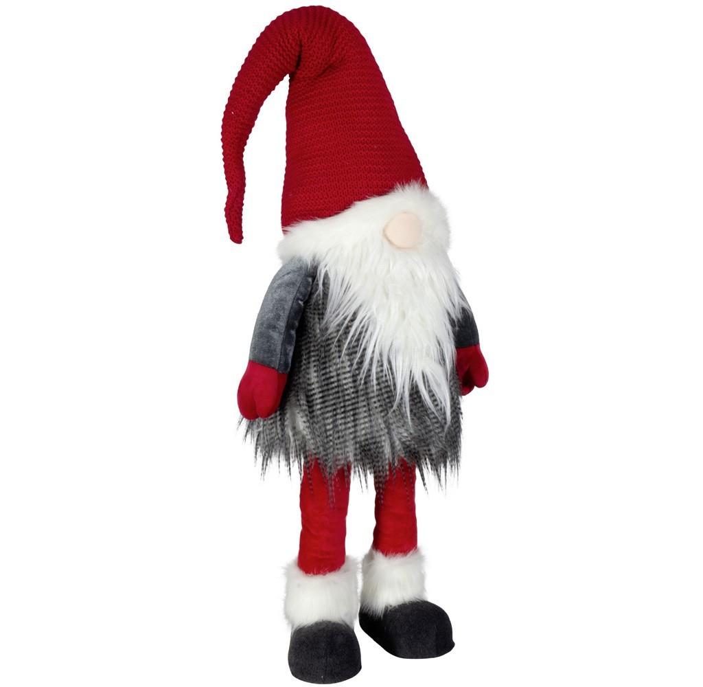 Gnome rouge et gris 80cm