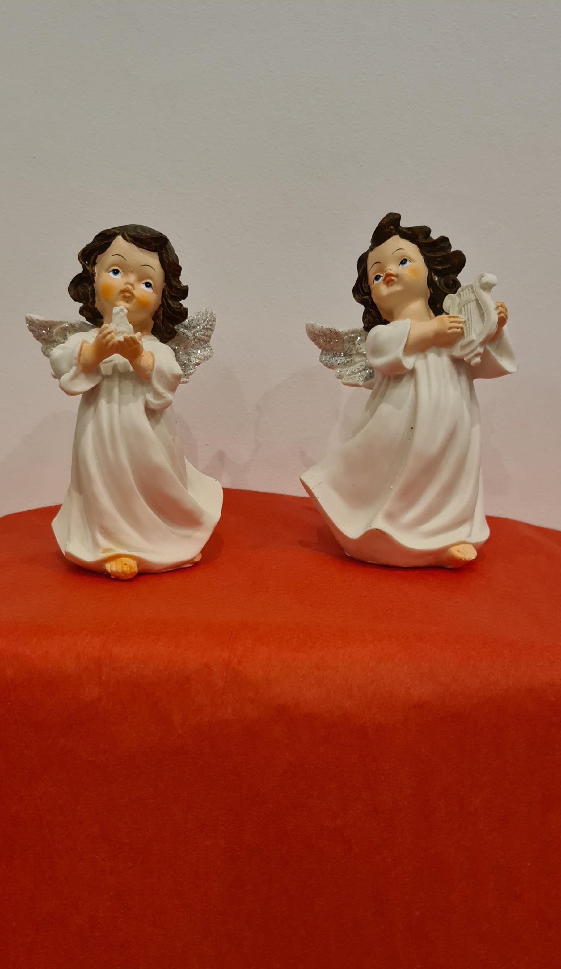 Lot de 24 anges 2 modèles assortis 13 cm