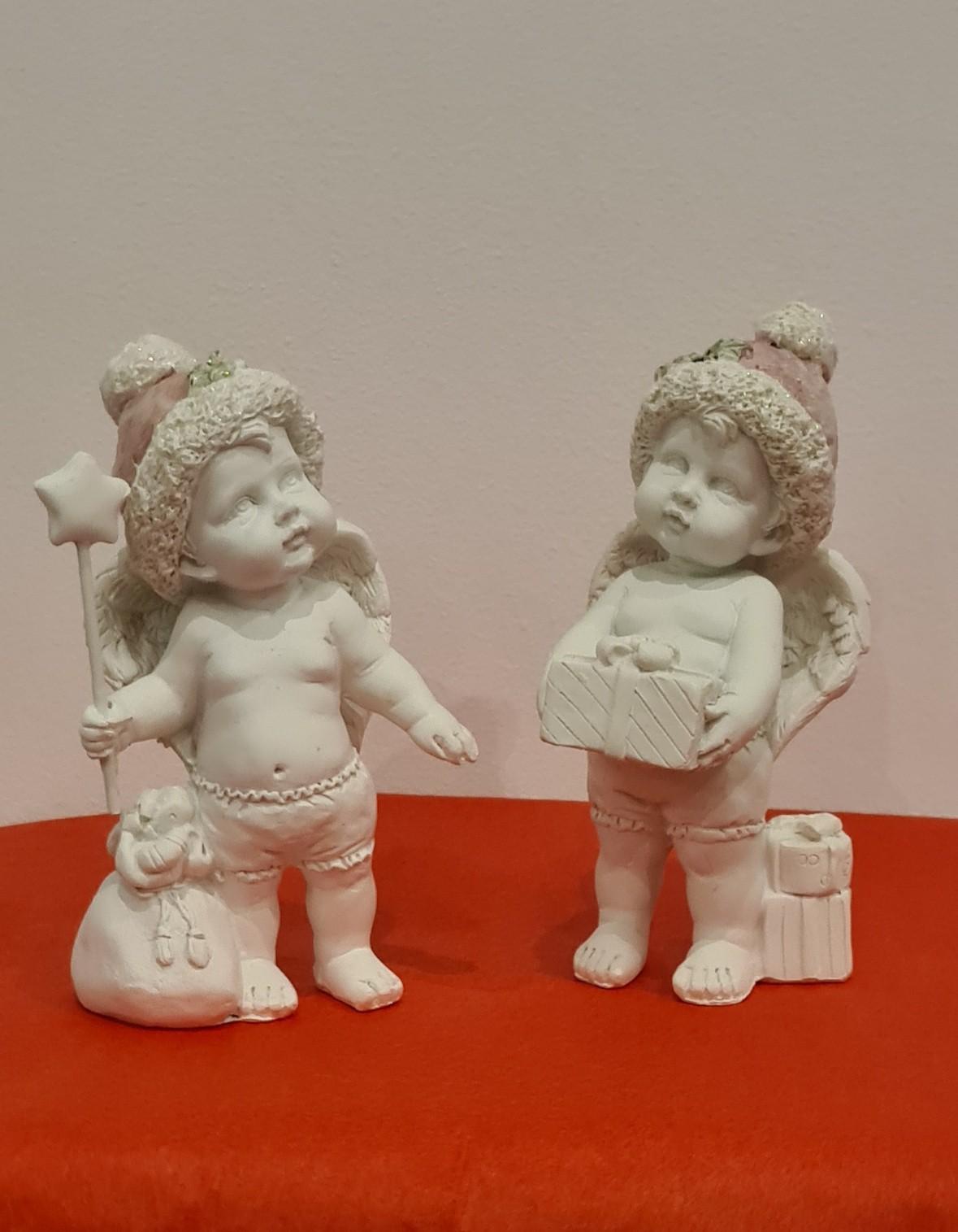 Lot de 12 anges, 2 modèles assortis 12 cm