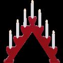 Lot de 4 chandeliers (49.5x43cm)