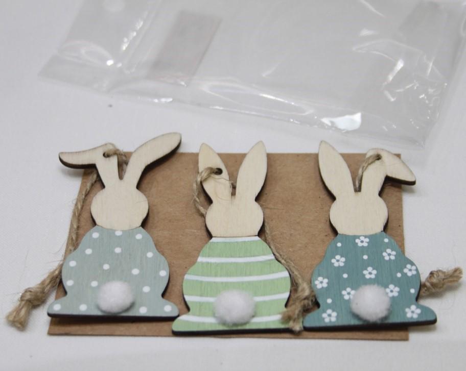 set de supensions lapins 3 modèles assortis vendu par 24