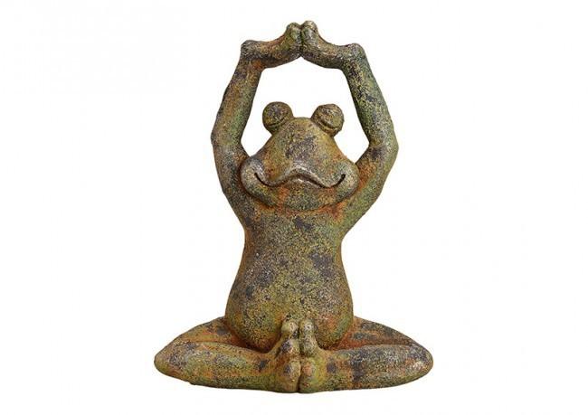 Grenouille Yoga en résine